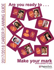 Cover of the 2017–2018 Virginia Tech Career Planning Guide