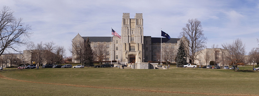 Burruss Hall from the Drillfield