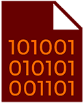 Icon for a text file with binary code as the content